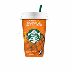 STARBUCKS молоч коф напит Caramel Macc 1,6% 220мл (10)стакан