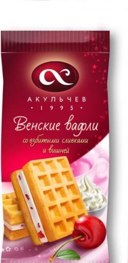 182 Венские вафли со взбитыми сливками и вишней Т18х150г