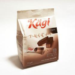 Kaegi Dark mini вафли в тёмном шоколаде 125г (12)