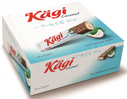 Kaegi Coconut вафли кокос крем в молоч шокол 24*25г (8)
