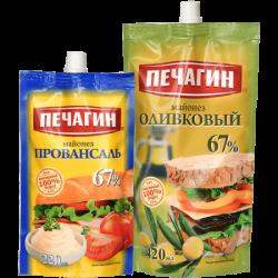 Печагин Майонез Оливковый 67% 420мл+Провансаль 67% 220мл(15)