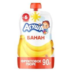 Агуша Пюре фруктовое Банан 90г (10) пауч