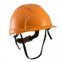 Каска защитная с вентиляцией (с храповиком), оранжевая