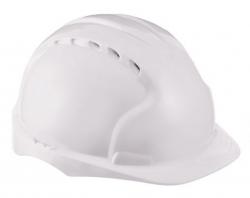 Каска защитная с вентиляцией белая
