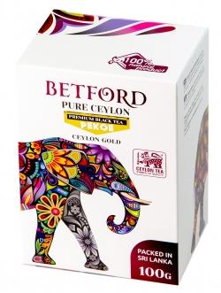 Betford(Бетфорд) чай цейлонский черный байховый стандарт PEKOE.100гр