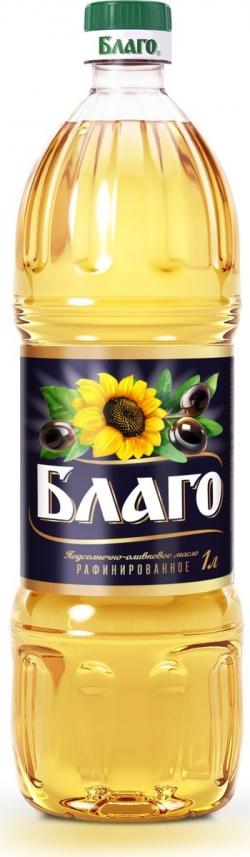 БЛАГО Масло растительное смесь подсол-оливковое 1л (15) пл/б