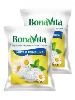 Карамель леденц Bona Vita БАД Мята и ромашка с вит. С 60 гр.