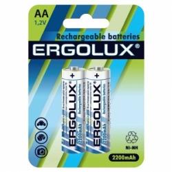 Аккумулятор Ergolux АА2200mA(Ni-Mh)2бл