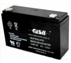 Аккумулятор АКБ 6120 CASIL (6V 12Ah) свинцово - кислотный