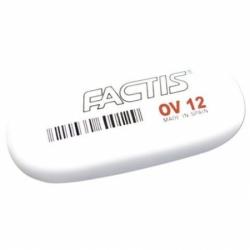 Ластик большой FACTIS OV 12 (Испания), 61х28х13 мм, белый, овальный