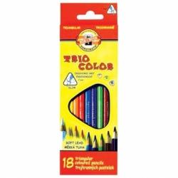 """Карандаши цветные KOH-I-NOOR """"Triocolor"""", 18 цветов"""