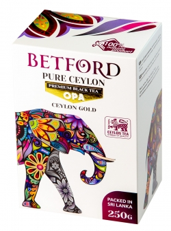 Betford(Бетфорд) чай цейлонский черный байховый крупнолистовой ОРА.250гр