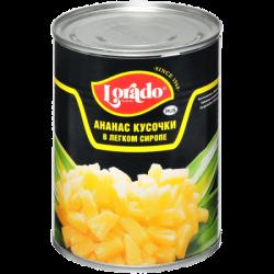 Лорадо Ананас кусочками в легком сиропе 580мл (12) ж/б