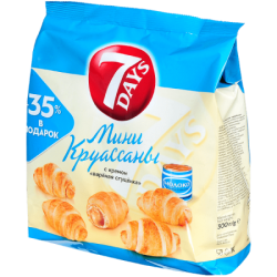 Чипита 7DAYS Круассаны Мини Вареная Сгущенка 300г (10)