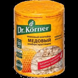 Dr.Korner Хлебцы Злаковый коктейль Медовый 100г (20)