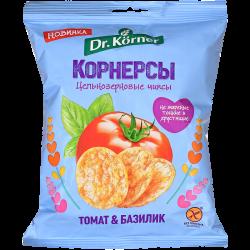 Dr.Korner Чипсы Кукурузно-Рисовые Томат Базилик 50г (28)