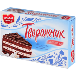 Русская нива Торт Творожник Шоколадный 340г (12)