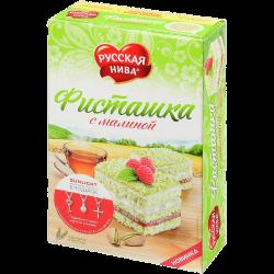 Русская нива Торт Фисташковый с Малиной 290г (12)