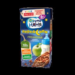 ФрутоНяня Каша Молочно-Гречневая с яблоками 0,2л