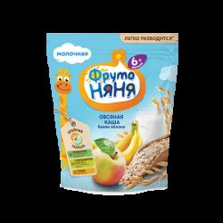 ФрутоНяня Каша Овсяная молоч Яблоко/Банан 6+  200г кор