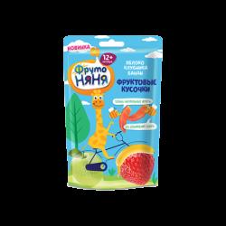 ФрутоНяня Фруктовые кусочки из яблок клубника/банан 15г (40)
