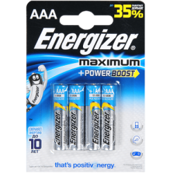ENR Батарейка MAXIMUM AAA E92 Алкалин 1.5V 4шт (12)
