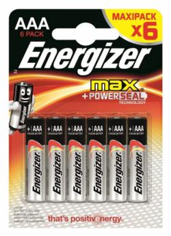 ENR Батарейка MAX AAA E92 Алкалин 1.5V 6шт (12)