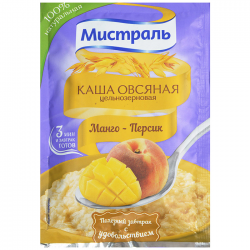 Каша овсяная Мистраль Манго-персик 40г (25)