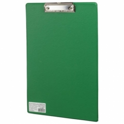"""Доска-планшет BRAUBERG """"Comfort"""" с прижимом А4 (230х350 мм), зеленая"""