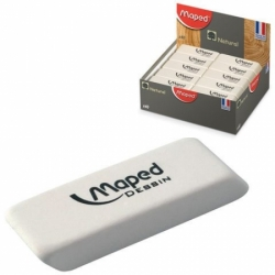 "Ластик MAPED (Франция) ""Dessin"", 50х18х10 мм, белый, прямоугольный"