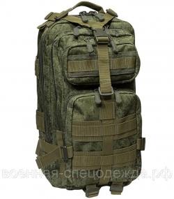 Рюкзак 5007 (25 л) зеленая цифра