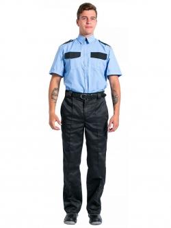 Рубашка охранника с коротким рукавом мужская