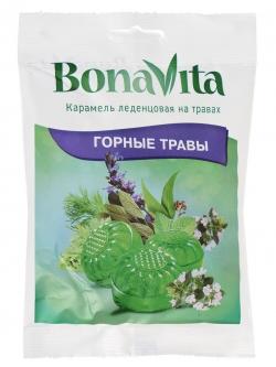 Карамель леденц Bona Vita Горные травы на травах Т20х60г