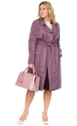 Пальто женское из замши