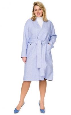 Пальто женское из вареной шерсти лоден