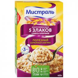 Хлопья Мистраль Смесь 5 злаков 400г (12)