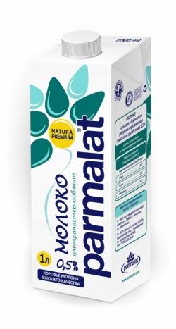 Parmalat Молоко ультрапастеризованное  0,5% 1л