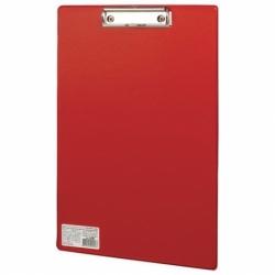 """Доска-планшет BRAUBERG """"Comfort"""" с прижимом А4 (230х350 мм), красная"""