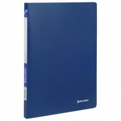 "Папка 10 вкладышей BRAUBERG ""Office"", синяя"