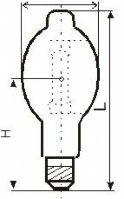 Лампа ДРИ 250-5 (Е40) Лисма