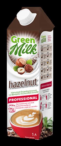 Напиток Грин Милк б/а Hazelnut Professional 1л (12)
