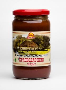 """Соус томатный """"Краснодарский"""" острый 370 гр"""