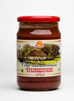 """Соус томатный """"Краснодарский"""" острый 690 гр"""