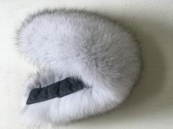 Песцовая меховая опушка для капюшона