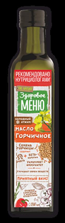 Масло Здоровое меню горчичное нераф 0,25л (9)