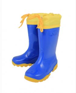 Детские резиновые сапожки с утеплителем - обувь из ПВХ