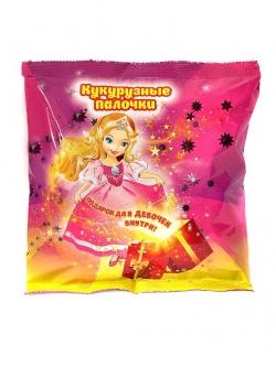 Кукурузные палочки с  игрушкой для девочек, 50 г