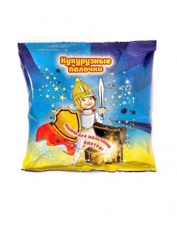 Кукурузные палочки с игрушкой для мальчиков, 50 гр