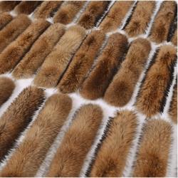 Опушка для капюшона из натурального меха финского енота