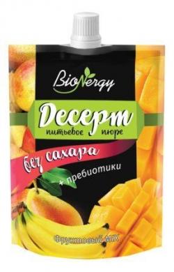 """Десерт фруктовый MIX """"Груша-Банан-Манго"""" """"BioNergy"""" 0,14 л."""